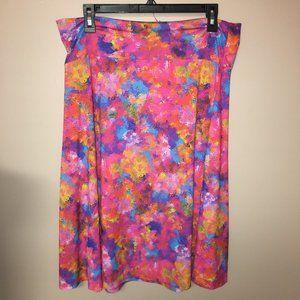 LulaRoe Azure Floral Skirt XL